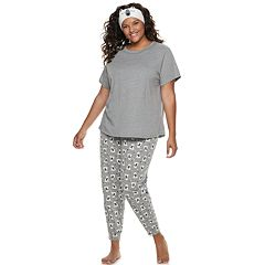 Plus Size SO® Tee & Jogger Pajama Set