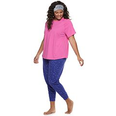 Plus Size SO® Tee & Jogger Pajama Set