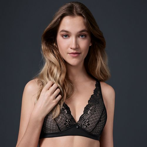 d01cd7aaaf Simply Vera Vera Wang Bras  Lace Wire Free Plunge Bralette