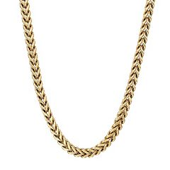 LYNX Men's Gold Tone Stainless Steel Foxtail Chain Necklace - 30 in.