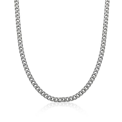 LYNXMen's Stainless Steel Curb Chain Necklace - 30 in.