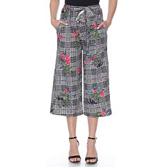 Women's White Mark Printed Gaucho Pants