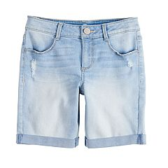 Girls 7-16 SO® Cuffed Bermuda Jean Shorts