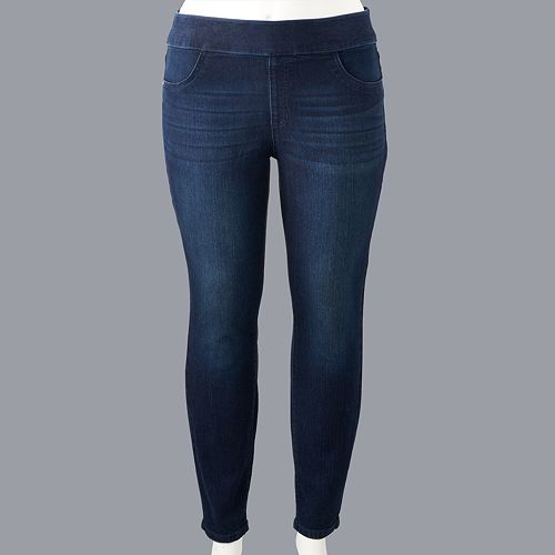 Plus Size Simply Vera Vera Wang Pull-On Skinny Jeans