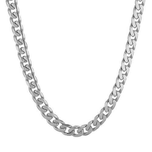 LYNX Men's Stainless Steel Curb Chain Necklace - 22 in.