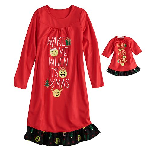 Girls 4-14   Plus Size SO® Christmas Nightgown   Doll Nightgown 5643bf479