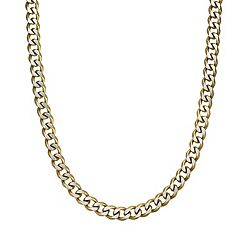 LYNX Men's Gold Tone Stainless Steel Curb Chain Necklace - 22 in.