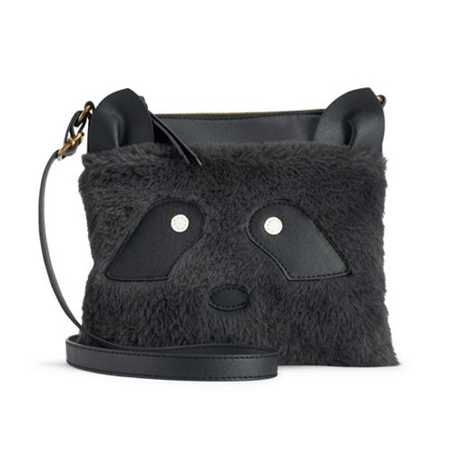 T-Shirt & Jeans Raccoon Faux-Fur Crossbody Bag