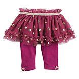 Baby Girl Baby Starters Foil Flower Tutu Leggings