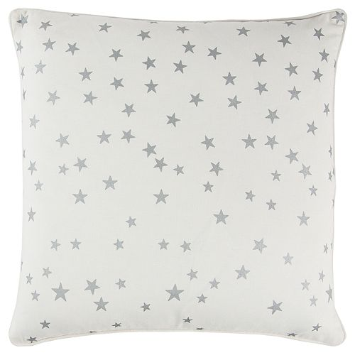 Rizzy Home Andrew Charles White Star Transitional Throw Pillow