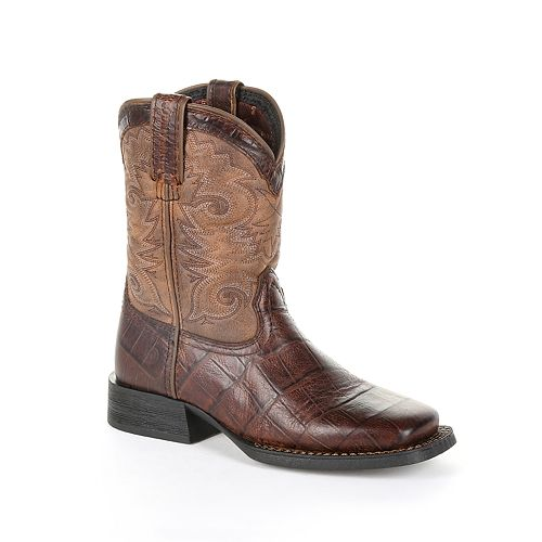 Lil Durango Mustang Kid's Reptile Print Western Boots