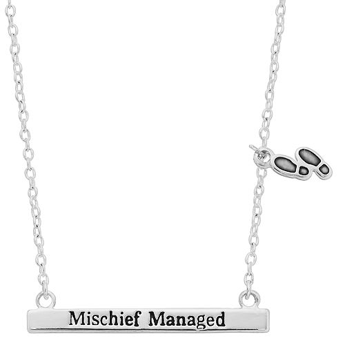 """Harry Potter """"Mischief Managed"""" Bar Necklace"""