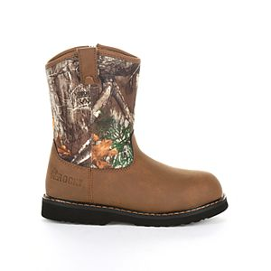 Rocky Lil Ropers Kid's Camo Wellington Boots