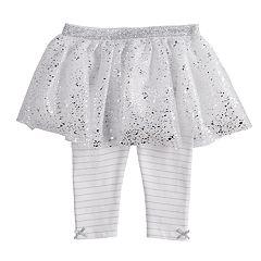 Baby Girl Baby Starters Glitter & Foil Tutu Leggings
