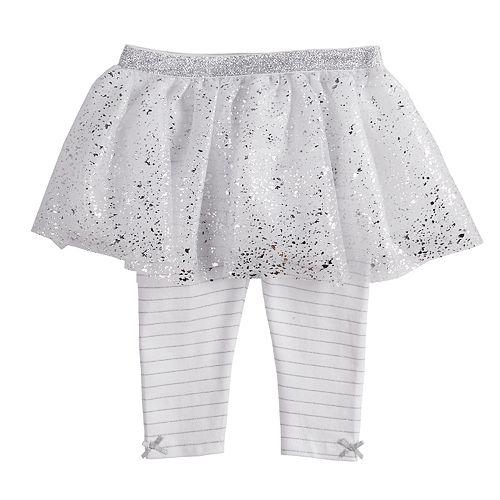 2711924e7bcfb Baby Girl Baby Starters Glitter & Foil Tutu Leggings