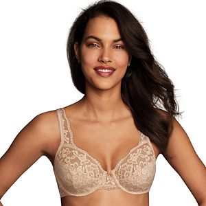Maidenform Full Fit Underwire Comfort Devotion Smoothing Lace Nude Unlined 38D