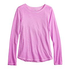 Girls 7-16 & Plus Size SO® Long Sleeve Core Tee