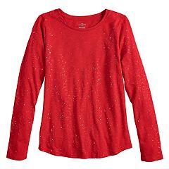 c804e5d9dd9 Girls 7-16   Plus Size SO® Long Sleeve Core Tee