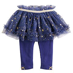 Baby Girl Baby Starters Foiled Constellation Tutu Leggings