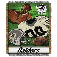 Oakland Raiders Vintage Throw Blanket