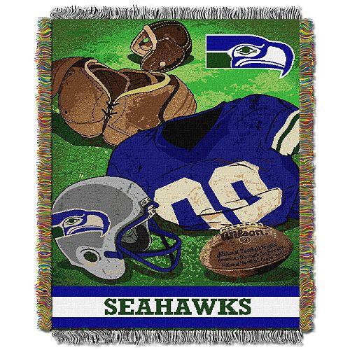 Seattle Seahawks Vintage Throw Blanket
