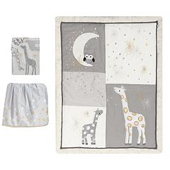 Lambs & Ivy 3-pc. Moonbeams Owl, Moon, Star & Giraffe Crib Bedding Set