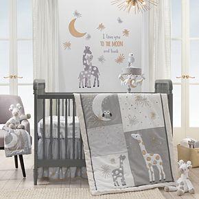 Lambs & Ivy 3-pc. Moonbeams Owl, Moon, Star & Giraffe Crib Bedding Set
