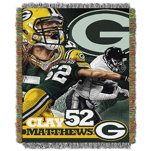 Green Bay Packers Clay Matthews Throw Blanket