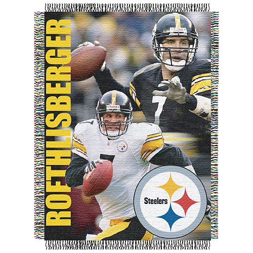Pittsburgh Steelers Ben Roethlisberger Throw Blanket