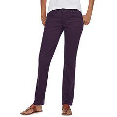 Women's SONOMA Goods for Life™ Straight-Leg Sateen Pants