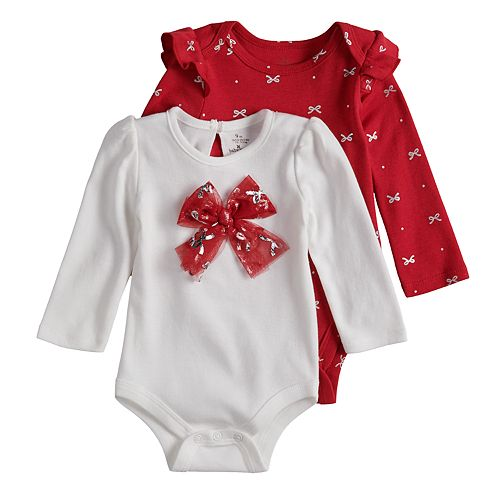 Baby Girl Baby Starters 2-pack Holiday Bodysuits