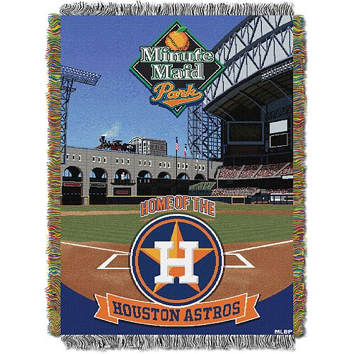 Houston Astros Park Stadium Throw Blanket