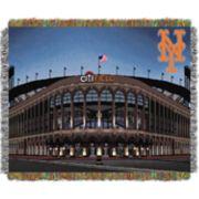 New York Mets Park Stadium Throw Blanket