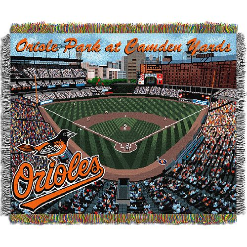 Baltimore Orioles Park Stadium Throw Blanket
