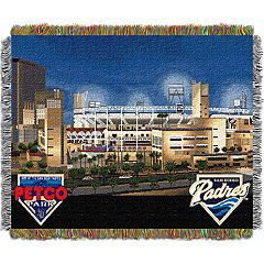 San Diego Padres Park Stadium Throw Blanket
