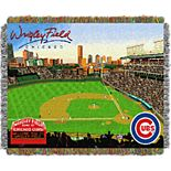 Chicago Cubs Park Stadium Throw Blanket