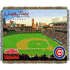 Chicago Cubs Park Stadium Throw Blanket