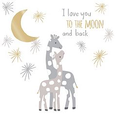 Lambs & Ivy Moonbeams 'Love You To The Moon' Giraffe Wall Applique Set