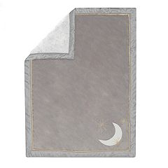 Lambs & Ivy Moonbeams Moon & Star Baby Blanket
