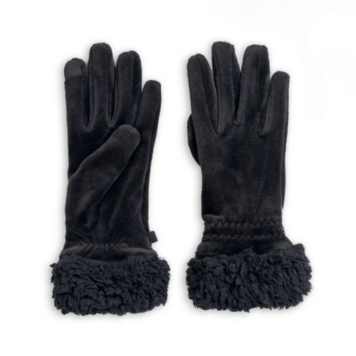 Women's Cuddl Duds® Velour Faux Sherpa Cuff Tech Gloves