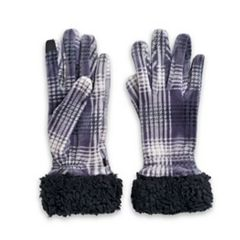 Women's Cuddl Duds Velour Faux Sherpa Cuff Tech Gloves