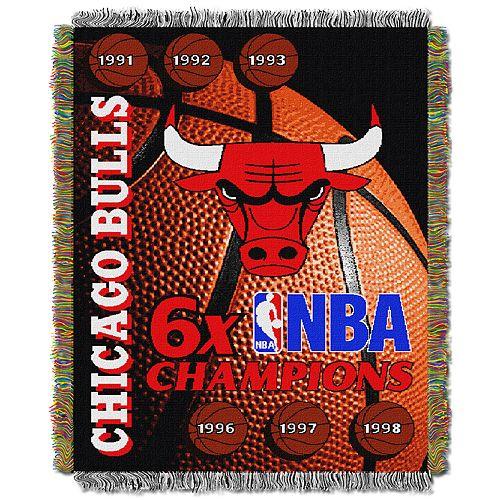 Chicago Bulls Commemorative Series Throw Blanket