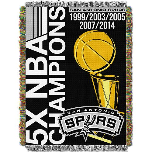 San Antonio Spurs Commemorative Series Throw Blanket