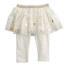Baby Girl Baby Starters Foiled Star Tutu Leggings