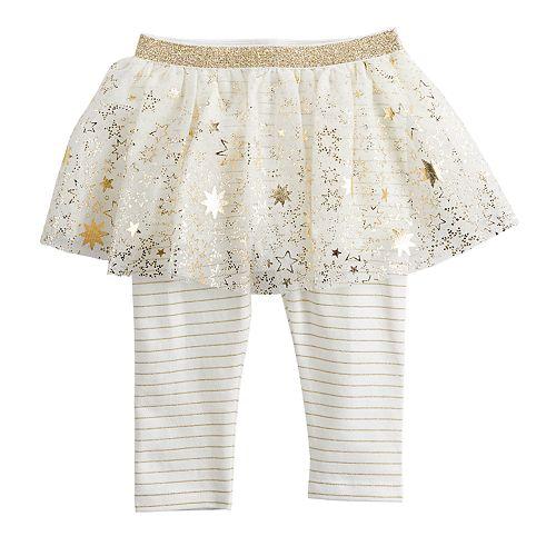 Baby Girl Baby Starters Foiled Star Tutu Leggings