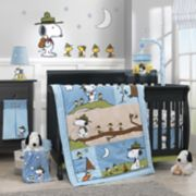 Lambs & Ivy 4-pc. Peanuts Snoopy's Campout Crib Bedding Set