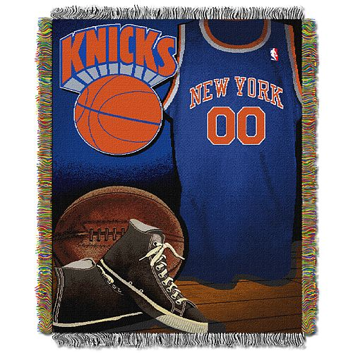 New York Knicks Vintage Throw Blanket