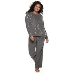 Plus Size SO® Graphic Tee & Pants Pajama Set