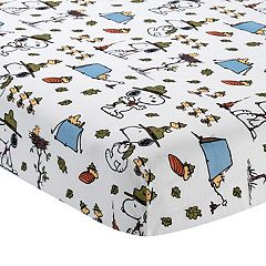 Lambs & Ivy Peanuts Snoopy's Campout Fitted Crib Sheet