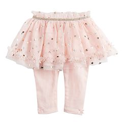 Baby Girl Baby Starters Foiled Star Tulle Tutu Leggings